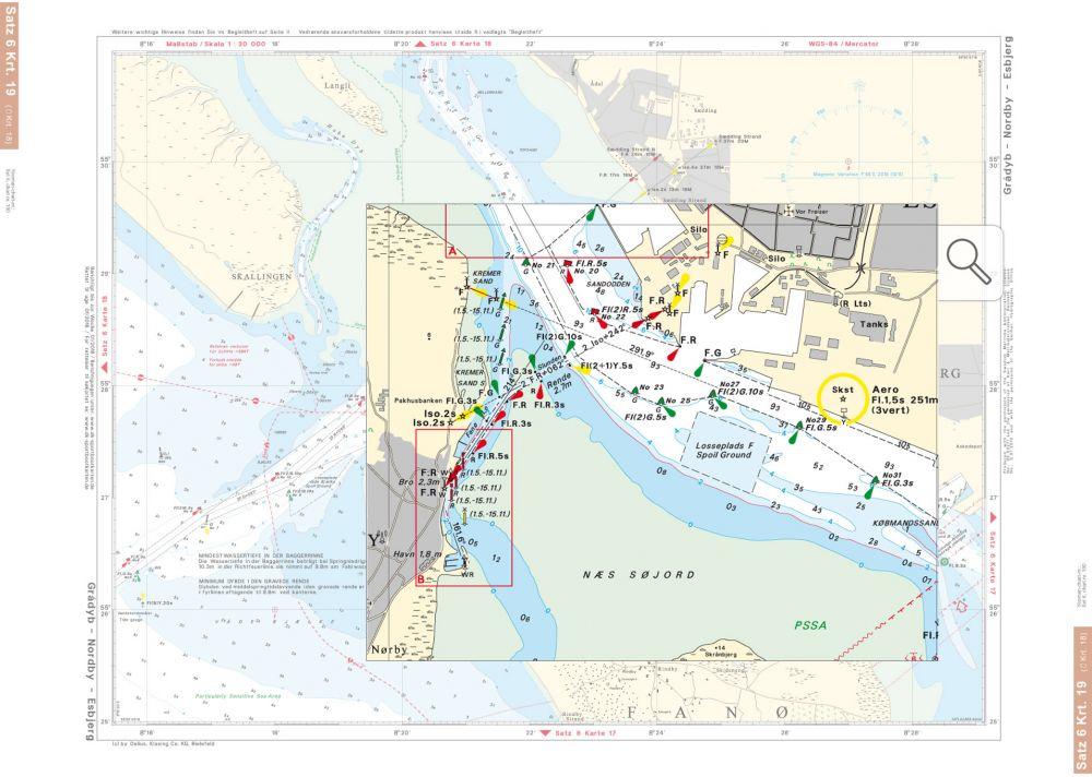 Dänemark Nordseeküste Karte.Delius Klasing Sportbootkarten Satz 6 Limfjord Skagerrak Dänische Nordseeküste