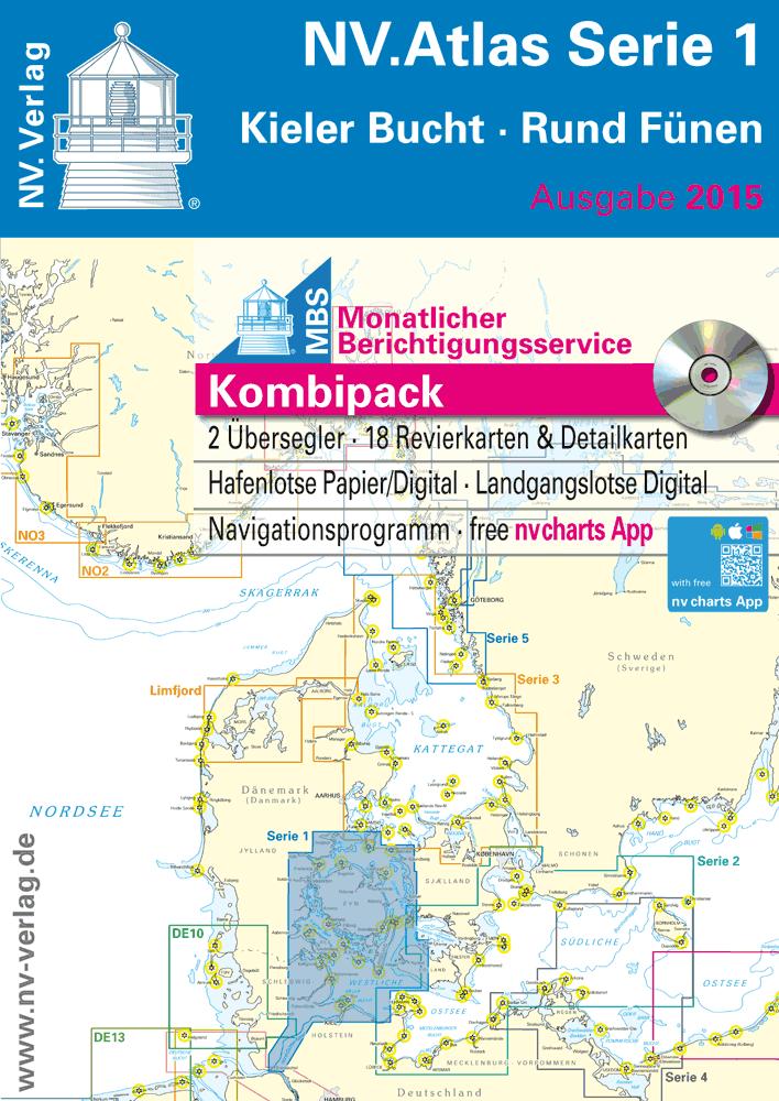 Kieler Bucht Karte.Nv Atlas Serie 1 Rund Fünen Kieler Bucht