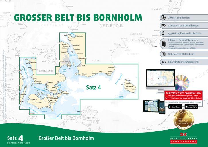 Delius-Klasing Sportbootkarten Satz 4: Großer Belt bis Bornholm