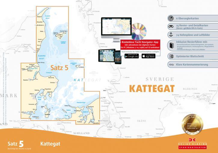 Delius-Klasing Sportbootkarten Satz 5: Kattegat