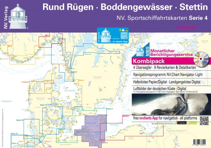 NV.Serie 4, Rund Rügen - Boddengewässer -  Stettin