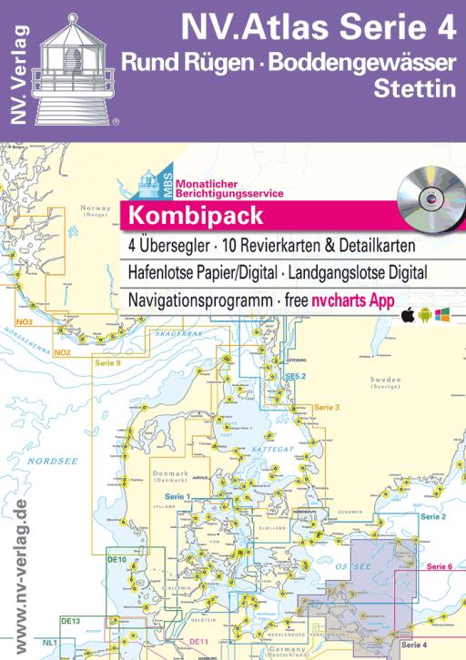 NV.Atlas Serie 4, Rund Rügen - Boddengewässer - Stettin