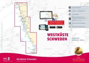 Delius-Klasing Sportbootkarten Satz 3: Westküste Schweden