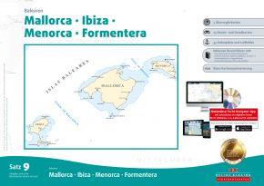 Delius-Klasing Sportbootkarten Satz 9: Balearen