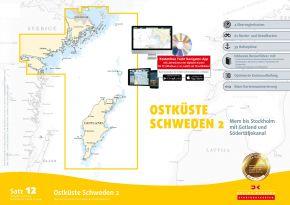 Delius-Klasing Sportbootkarten Satz 12: Ostküste Schweden 2